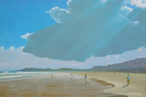 Summer Cloud, 32 x 48, oil on linen, © 2016 Rob Diebboll