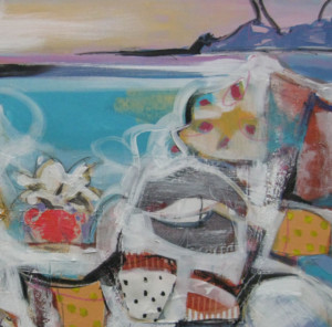 Harty #2, Island, 36 X 48, acrylic:mixed media, use for website